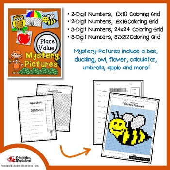 Place Value Math Coloring Sheets and Games Bundle