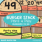 Place Value Activities - Burger Stack