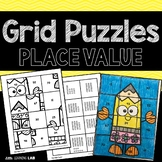 Place Value Activities | Math Center | Grid Puzzles