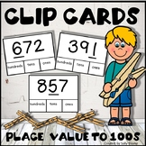 Place Value Activities - Ones, Tens, Hundreds  - Clip Cards