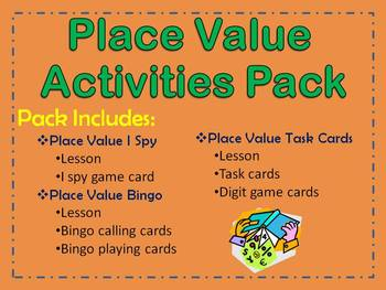 Place Value Activities Pack