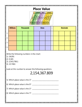 Place Value Activities and Games