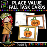 Place Value Activities for Fall - Task Cards for 10, 100,