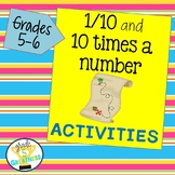 Place Value Activity: Find 1/10 and 10 times a number