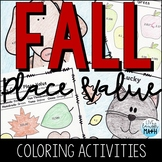 Fall Math Coloring: Place Value Activities