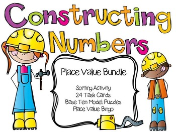 Place Value Activity Bundle - Sorting, Task Cards, Center Puzzles and Bingo