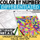 Place Value Activity | Place Value System | 5th Grade Color by Number