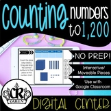 Place Value Activity Counting Numbers to 1,200 for Google Classroom