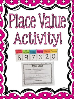 Place Value Activity! Differentiated, Hands-on Learning Fun!