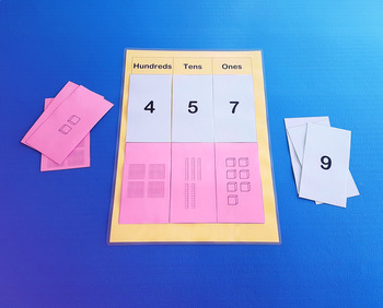 Place Value Activity Mat with Base 10 and Number Cards