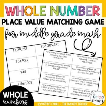 Place Value Activity Math Center Common Core Standard Expanded