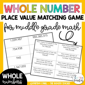 Place Value Math Centers: 6 Math Centers for Middle Grades