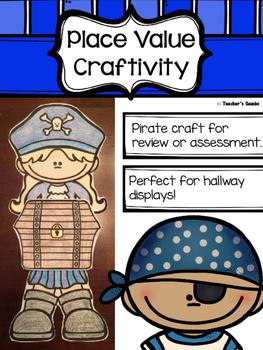 Place Value Activity - Pirate Craftivity
