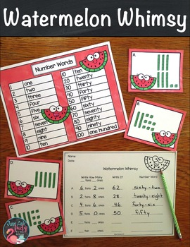 Place Value Activity Tens and Ones Watermelon Whimsy