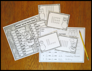 Place Value Activity Tens and Ones With Owl Friends
