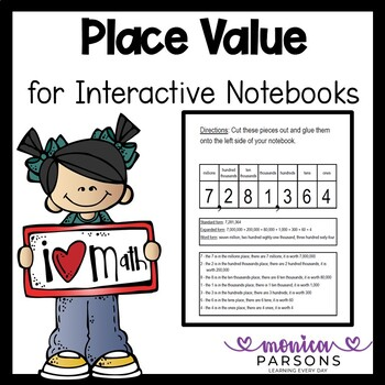 Place Value Activity for Interactive Notebooks