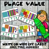 Place Value Activity to Hundreds - Write On Wipe Off Cards