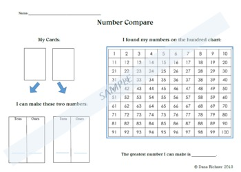 Place Value Activity/Center- Number Compare