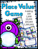 Place Value Game - Adding 100, 1,000, 10,000, 100,000, & 1,000,000
