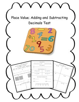 Decimal Concepts Assessment {5th Grade Common Core Aligned}