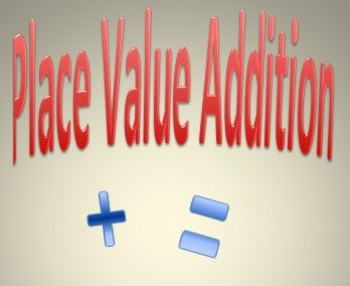 Place Value Addition Game.