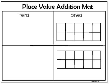 Place Value Addition Mat