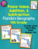 Place Value, Addition, Subtraction 20 Task Cards Integrati
