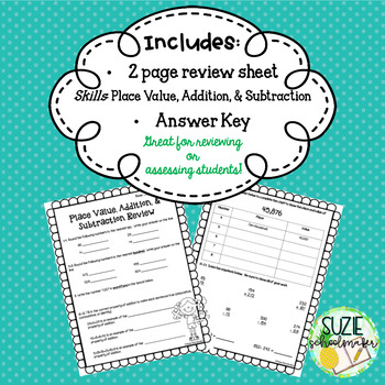 Place Value, Addition, & Subtraction Review