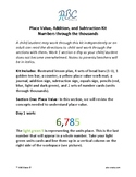 Place Value, Addition, and Subtraction Kit, Numbers through the thousands