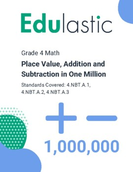 Place Value, Addition and Subtraction in One Million