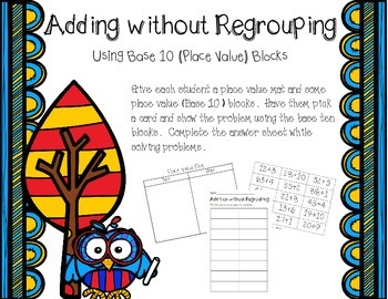 Place Value Addition without Regrouping