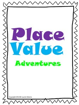 Place Value Adventures Packet