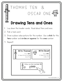 Place Value Adventures With Thomas Ten and Oscar One {5 base ten activities}