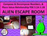Place Value Alien Escape Room TEKS 3.2A 3.2B