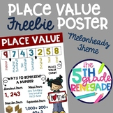 Place Value Anchor Chart FREEBIE with a Cute Kids theme