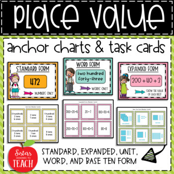 Place Value Task Cards by Sisters Designed to Teach | TpT