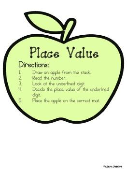 Place Value Apple Math Station