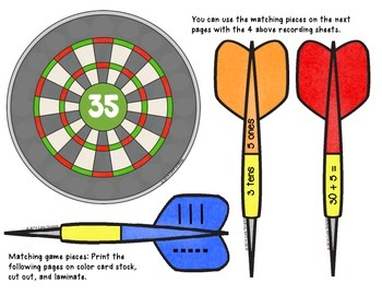 Place Value {Are You On Target? K/1 Math Game/Center}