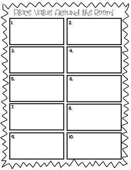 Place Value Around the Room