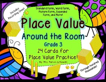 Place Value Around the Room or Scoot Cards through Hundred Thousands