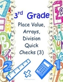 Place Value, Arrays for Beginning Multiplication and Division