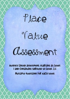 Place Value Assessment AusVELS linked Grade 1, 2 and 3
