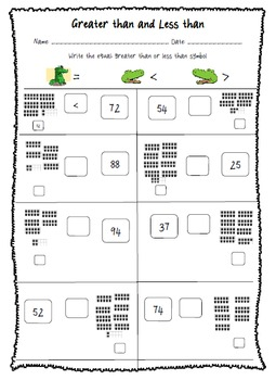 Place Value Assessment (Numbers to 100) Using 10 frames