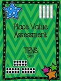 Place Value Assessment: Tens
