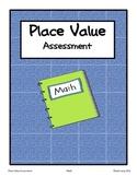 Place Value Assessment Third Grade Math