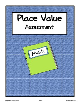 Place Value Assessment Third Grade Math