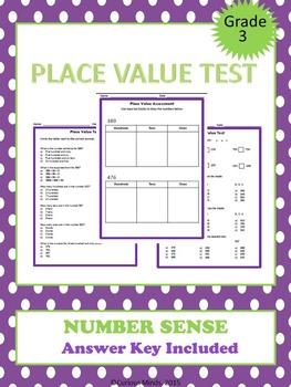 Third Grade Place Value Assessments