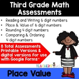 Place Value Assessments: Reading, Rounding, Comparing and Ordering Numbers