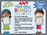 Place Value BINGO - EDITABLE for use with Ones, Tens, Hund