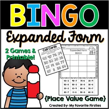 Place Value BINGO {Expanded Form}
